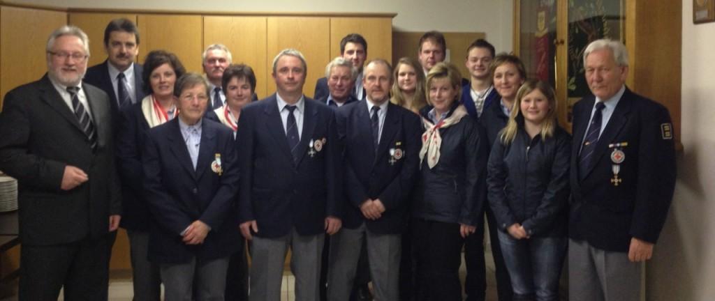 Ein Teil der Mitglieder der Bereitschaft Eberhardsreuth am 28. März 2013