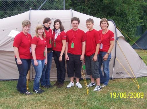 Zeltlager beim Jugenrotkreuz Bezirkswettberb 2009 in Regenstauf